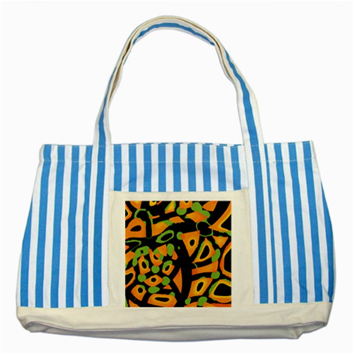 Abstract animal print Striped Blue Tote Bag