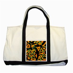 Abstract animal print Two Tone Tote Bag