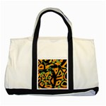 Abstract animal print Two Tone Tote Bag Front
