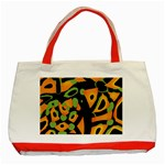 Abstract animal print Classic Tote Bag (Red) Front