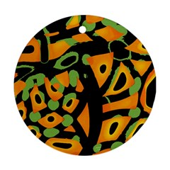 Abstract Animal Print Round Ornament (two Sides)