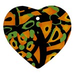 Abstract animal print Heart Ornament (2 Sides) Back