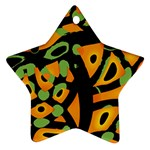 Abstract animal print Star Ornament (Two Sides)  Back