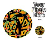 Abstract animal print Playing Cards 54 (Round)  Front - Diamond7