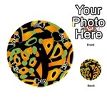 Abstract animal print Playing Cards 54 (Round)  Front - Club5