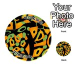 Abstract animal print Playing Cards 54 (Round)  Front - Joker1