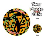 Abstract animal print Playing Cards 54 (Round)  Front - Joker2