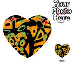 Abstract animal print Playing Cards 54 (Heart)  Front - Heart7