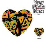 Abstract animal print Playing Cards 54 (Heart)  Front - HeartK