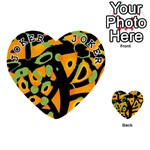 Abstract animal print Playing Cards 54 (Heart)  Front - Joker1