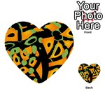 Abstract animal print Playing Cards 54 (Heart)  Back