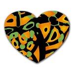 Abstract animal print Heart Mousepads Front