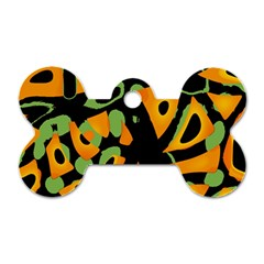 Abstract Animal Print Dog Tag Bone (two Sides)