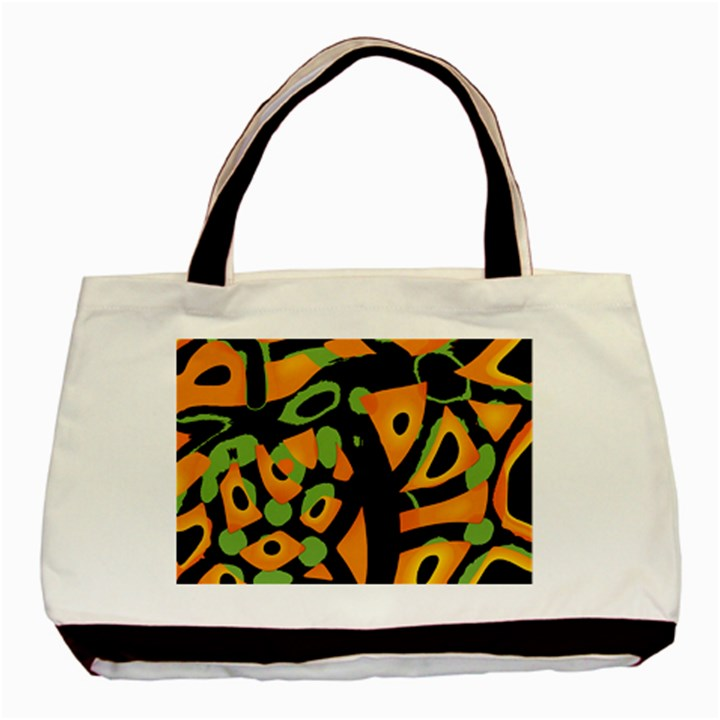 Abstract animal print Basic Tote Bag (Two Sides)