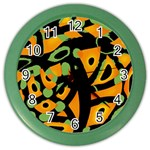 Abstract animal print Color Wall Clocks Front