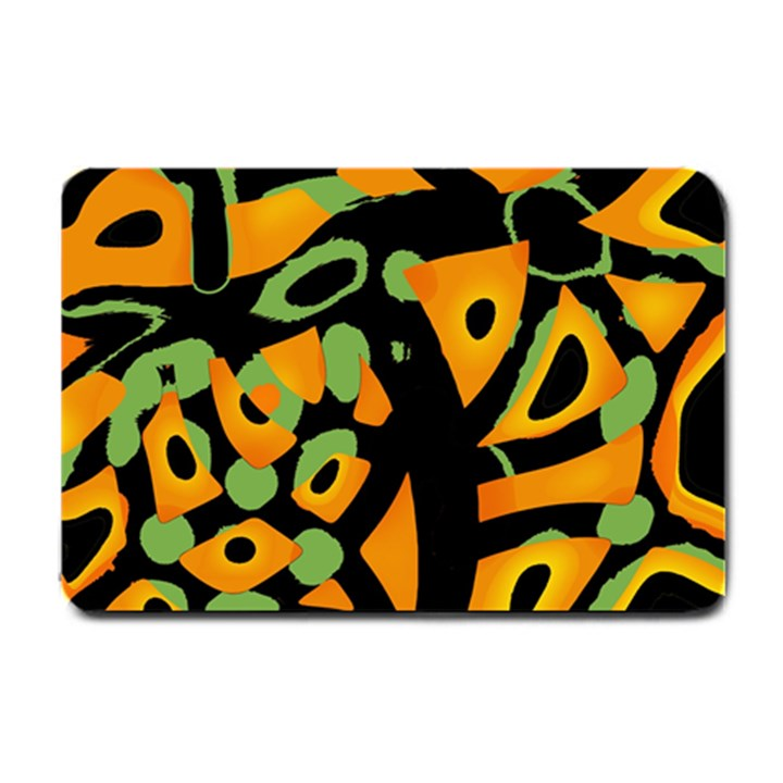 Abstract animal print Small Doormat