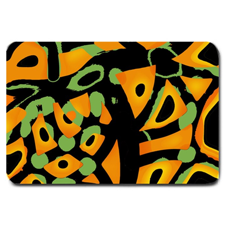 Abstract animal print Large Doormat