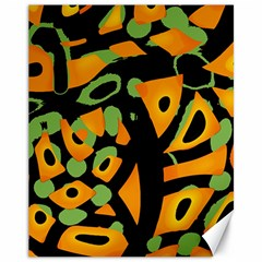 Abstract Animal Print Canvas 11  X 14