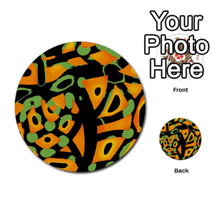 Abstract animal print Multi-purpose Cards (Round)