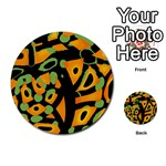 Abstract animal print Multi-purpose Cards (Round)  Back 45