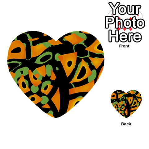 Abstract animal print Multi-purpose Cards (Heart)
