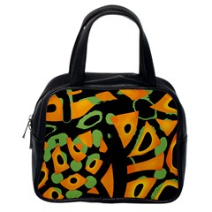 Abstract animal print Classic Handbags (One Side)