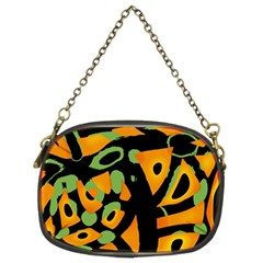 Abstract Animal Print Chain Purses (two Sides)