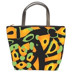 Abstract Animal Print Bucket Bags