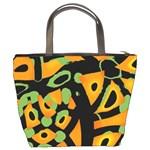 Abstract animal print Bucket Bags Back