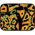 Abstract animal print Double Sided Fleece Blanket (Mini)  35 x27 Blanket Front