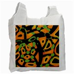 Abstract animal print Recycle Bag (Two Side)  Front