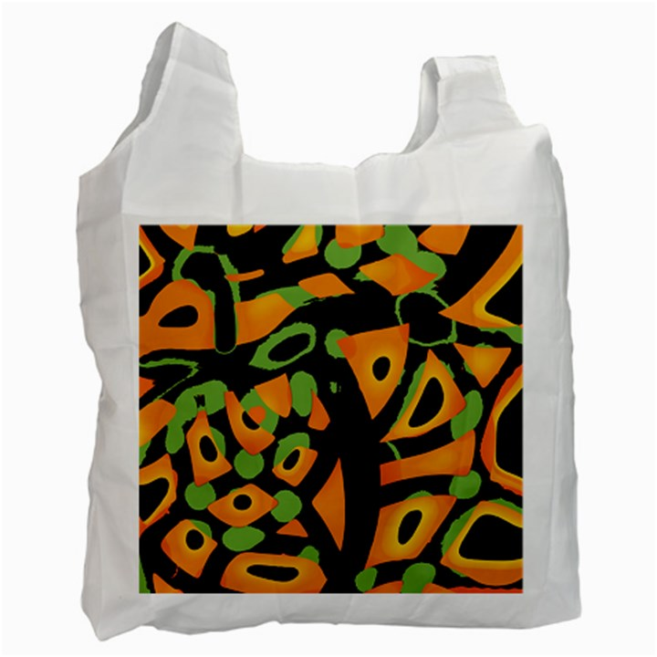 Abstract animal print Recycle Bag (Two Side)