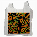 Abstract animal print Recycle Bag (Two Side)  Back