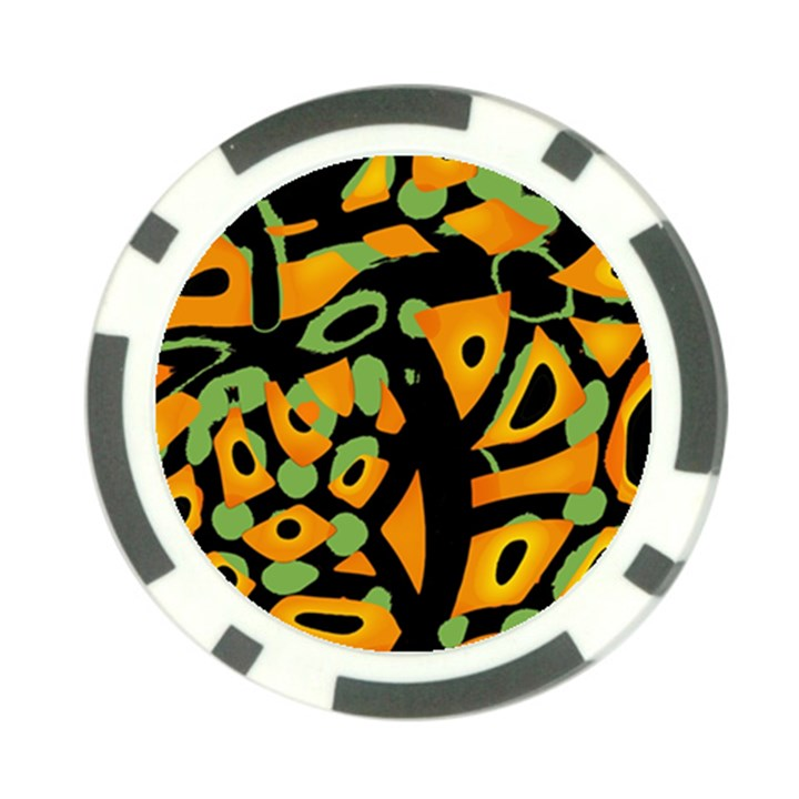 Abstract animal print Poker Chip Card Guards (10 pack)