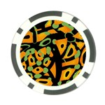 Abstract animal print Poker Chip Card Guards (10 pack)  Back