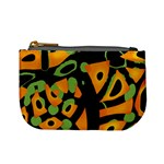Abstract animal print Mini Coin Purses Front