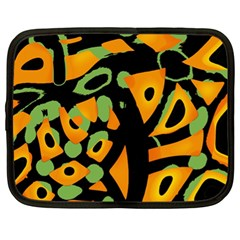Abstract Animal Print Netbook Case (xl)