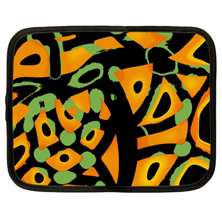 Abstract animal print Netbook Case (XXL)