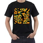 Abstract animal print Men s T-Shirt (Black) Front