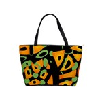 Abstract animal print Shoulder Handbags Front