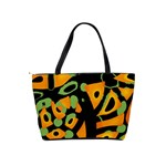 Abstract animal print Shoulder Handbags Back