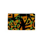 Abstract animal print Cosmetic Bag (Small)  Back