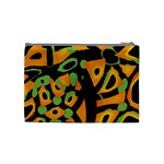 Abstract animal print Cosmetic Bag (Medium)  Back