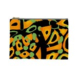 Abstract animal print Cosmetic Bag (Large)  Front