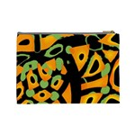 Abstract animal print Cosmetic Bag (Large)  Back