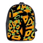 Abstract animal print School Bags(Large)  Front