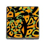 Abstract animal print Memory Card Reader (Square) Front