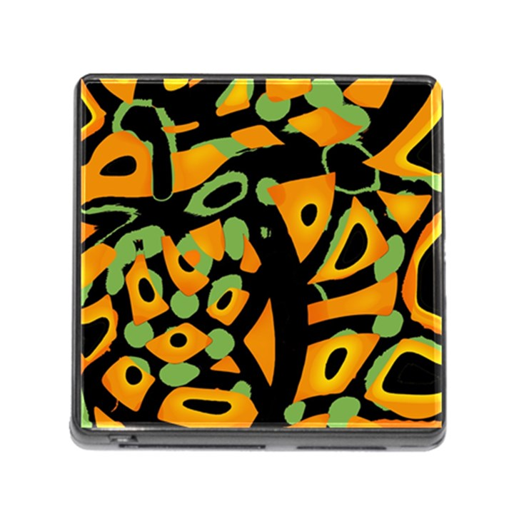 Abstract animal print Memory Card Reader (Square)