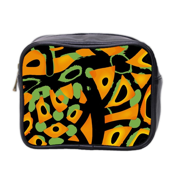 Abstract animal print Mini Toiletries Bag 2-Side