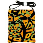Abstract animal print Shoulder Sling Bags Front